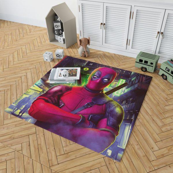 Deadpool 2 Movie Wade Wilson Bedroom Living Room Floor Carpet Rug 2