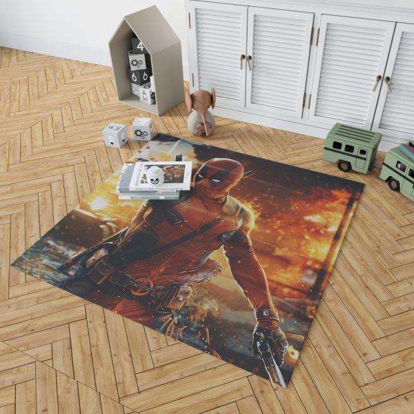Deadpool Artwork Super Hero Bedroom Living Room Floor Carpet Rug 2