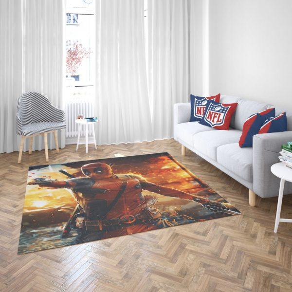 Deadpool Artwork Super Hero Bedroom Living Room Floor Carpet Rug 3