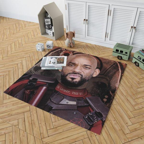 Deadshot Suicide Squad Movie Will Smith Bedroom Living Room Floor Carpet Rug 2