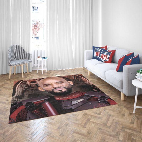 Deadshot Suicide Squad Movie Will Smith Bedroom Living Room Floor Carpet Rug 3