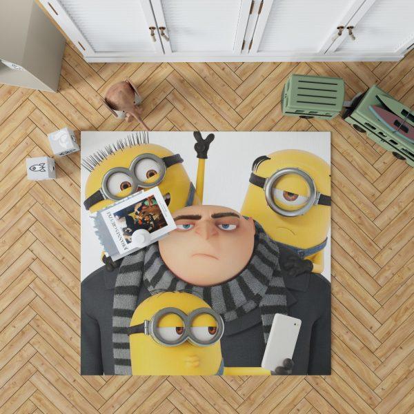 Despicable Me 3 Movie Bob Gru KevinStuart Bedroom Living Room Floor Carpet Rug 1