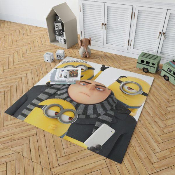 Despicable Me 3 Movie Bob Gru KevinStuart Bedroom Living Room Floor Carpet Rug 2