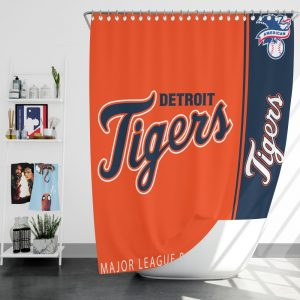 Detroit Tigers MLB Baseball American League Bath Shower Curtain