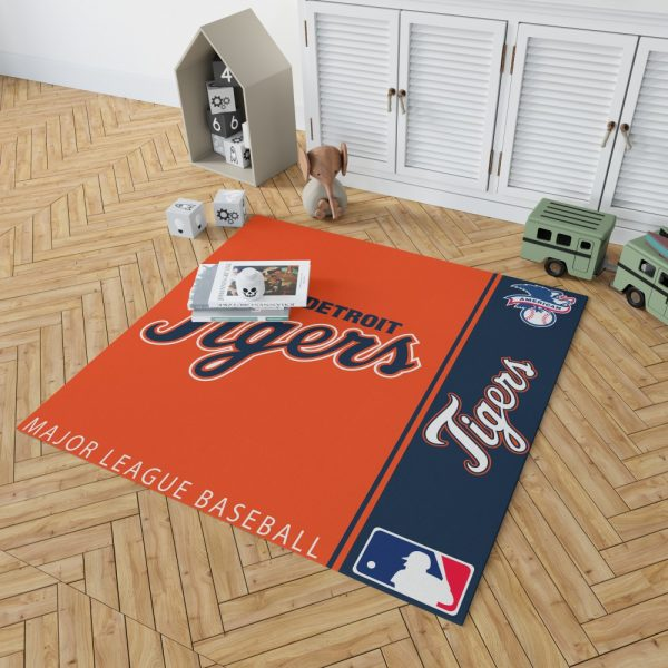 Detroit Tigers MLB Baseball American League Floor Carpet Rug Mat 2