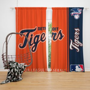 Detroit Tigers MLB Baseball American League Window Curtain