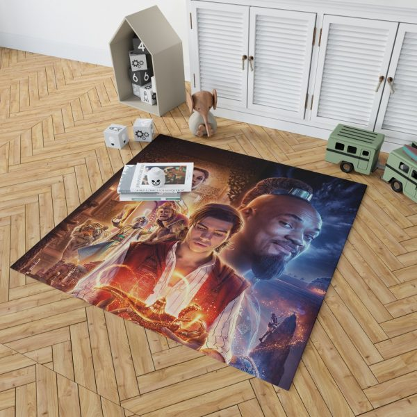 Disney Aladdin Movie Will Smith Mena Massoud Naomi Scott Bedroom Living Room Floor Carpet Rug 2