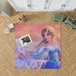 Elsa in Frozen 2 Movie Bedroom Living Room Floor Carpet Rug 1