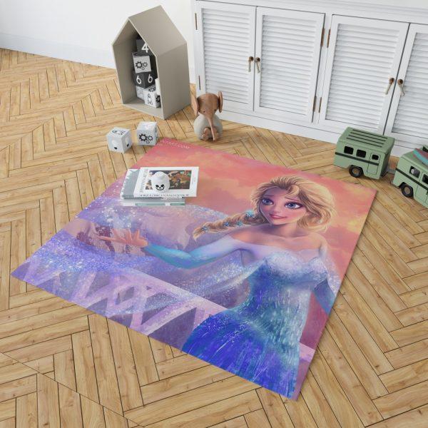 Elsa in Frozen 2 Movie Bedroom Living Room Floor Carpet Rug 2