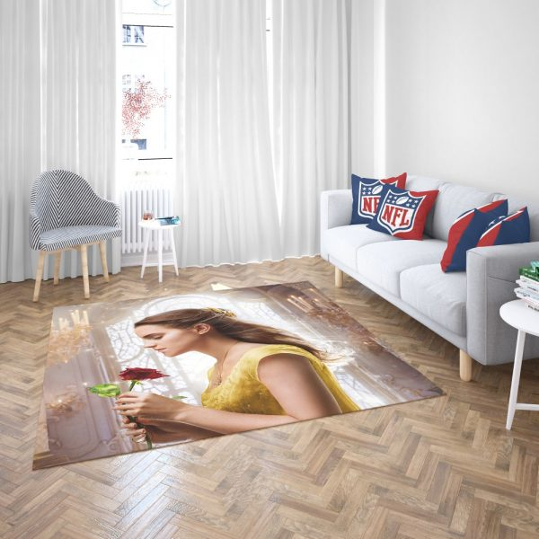 Emma Watson Beauty and the Beast Belle Bedroom Living Room Floor Carpet Rug 3