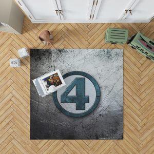 Fantastic Four Logo Marvel Comics Bedroom Living Room Floor Carpet Rug 1