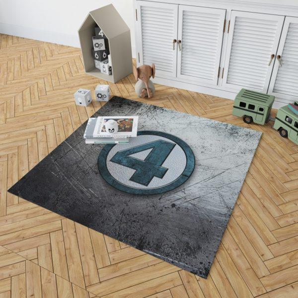 Fantastic Four Logo Marvel Comics Bedroom Living Room Floor Carpet Rug 2