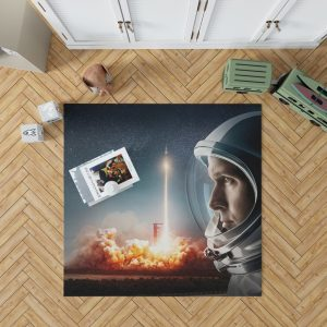 First Man Movie Astronaut Ryan Gosling Bedroom Living Room Floor Carpet Rug 1
