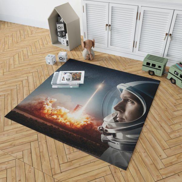 First Man Movie Astronaut Ryan Gosling Bedroom Living Room Floor Carpet Rug 2