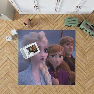 Frozen 2 Movie AnnaElsaKristoffBedroom Living Room Floor Carpet Rug 1