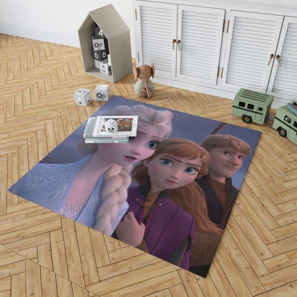 Frozen 2 Movie AnnaElsaKristoffBedroom Living Room Floor Carpet Rug 2