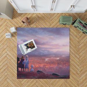 Frozen 2 Movie AnnaElsaKristoffOlafBedroom Living Room Floor Carpet Rug 1