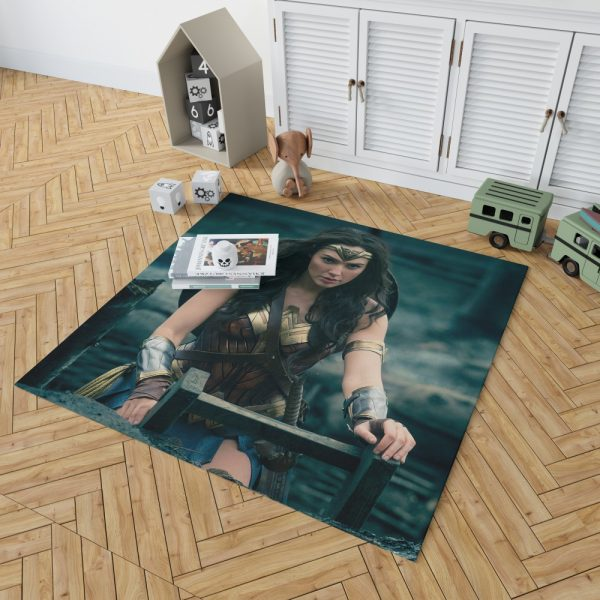 Gal Gadot Wonder Woman Bedroom Living Room Floor Carpet Rug 2