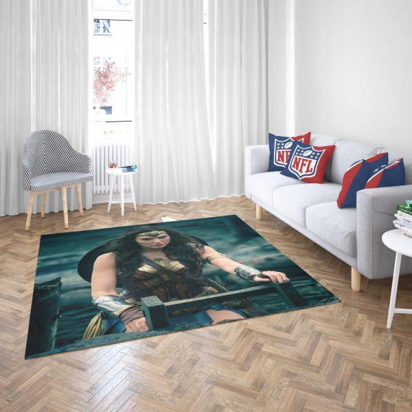 Gal Gadot Wonder Woman Bedroom Living Room Floor Carpet Rug 3