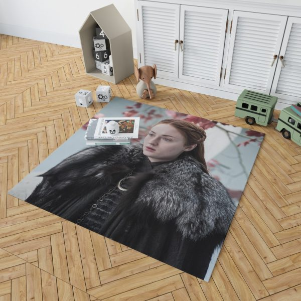 Game Of Thrones TV Series Sansa Stark Sophie Turner Bedroom Living Room Floor Carpet Rug 2