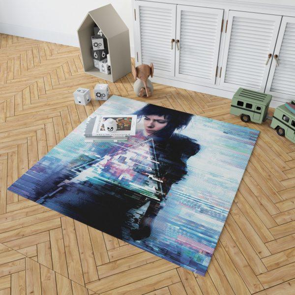Ghost in the Shell 2017 Movie Scarlett Johansson Bedroom Living Room Floor Carpet Rug 2