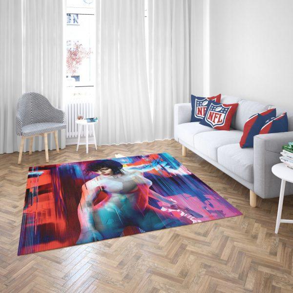 Ghost in the Shell Scarlett Johansson Bedroom Living Room Floor Carpet Rug 3