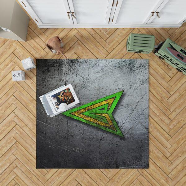 Green Arrow Logo DC Comics Bedroom Living Room Floor Carpet Rug 1