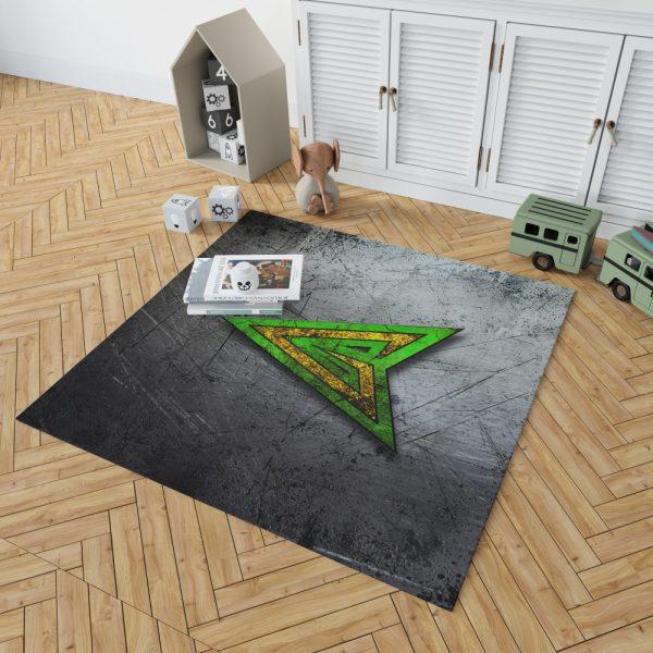 Green Arrow Logo DC Comics Bedroom Living Room Floor Carpet Rug 2