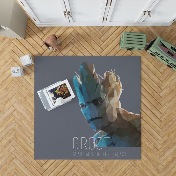 Groot in Guardians of the Galaxy Movie Marvel Bedroom Living Room Floor Carpet Rug 1