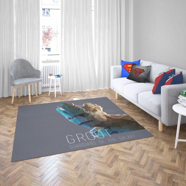 Groot in Guardians of the Galaxy Movie Marvel Bedroom Living Room Floor Carpet Rug 2