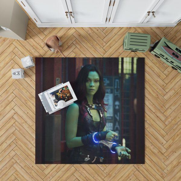 Guardians of the Galaxy Movie Gamora Zoe Saldana Bedroom Living Room Floor Carpet Rug 1