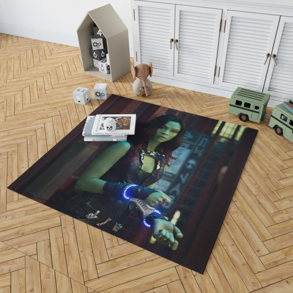 Guardians of the Galaxy Movie Gamora Zoe Saldana Bedroom Living Room Floor Carpet Rug 2