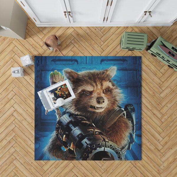 Guardians of the Galaxy Vol 2 Movie Groot Marvel Comics Rocket Raccoon Bedroom Living Room Floor Carpet Rug 1