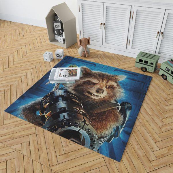Guardians of the Galaxy Vol 2 Movie Groot Marvel Comics Rocket Raccoon Bedroom Living Room Floor Carpet Rug 2
