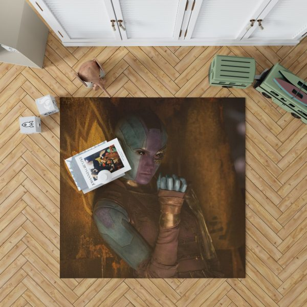 Guardians of the Galaxy Vol 2 Movie Karen Gillan Nebula Marvel Comics Bedroom Living Room Floor Carpet Rug 1