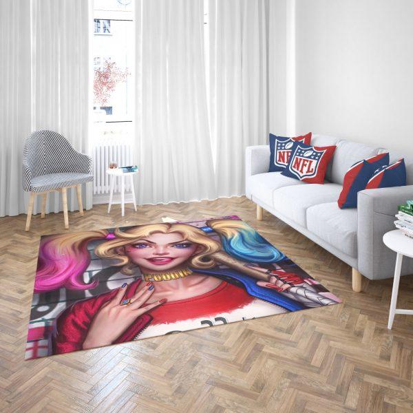 Harley Quinn DC Comics Artwork Bedroom Living Room Floor Carpet Rug 3