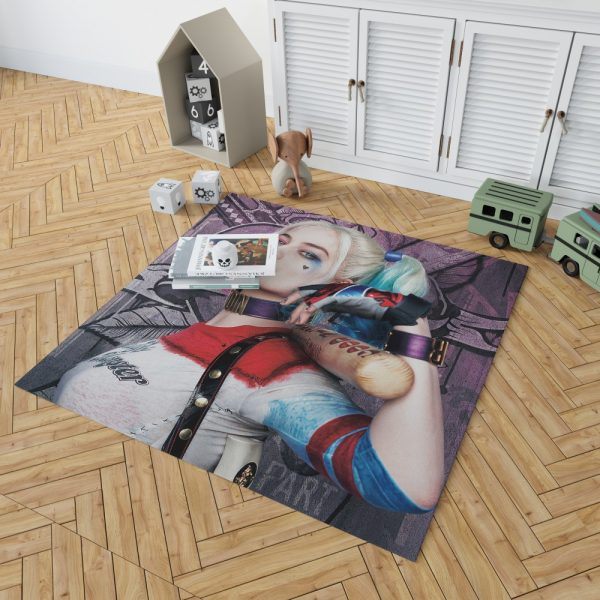 Harley Quinn Suicide Squad Margot Robbie Bedroom Living Room Floor Carpet Rug 2