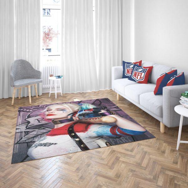 Harley Quinn Suicide Squad Margot Robbie Bedroom Living Room Floor Carpet Rug 3