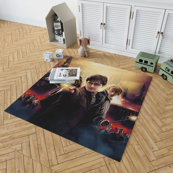 Harry Potter And The Deathly Hallows Bedroom Living Room Floor Carpet Rug 2
