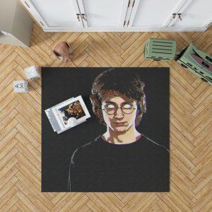 Harry Potter Movie Glitch Art Bedroom Living Room Floor Carpet Rug 1