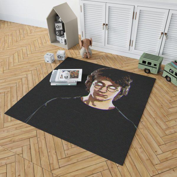 Harry Potter Movie Glitch Art Bedroom Living Room Floor Carpet Rug 2