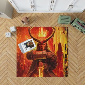 Hellboy 2019 Movie American Supernatural Superhero Bedroom Living Room Floor Carpet Rug 1