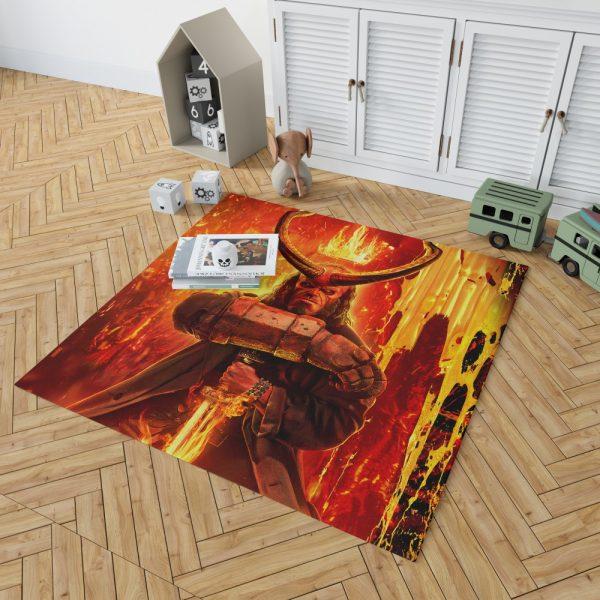 Hellboy 2019 Movie American Supernatural Superhero Bedroom Living Room Floor Carpet Rug 2