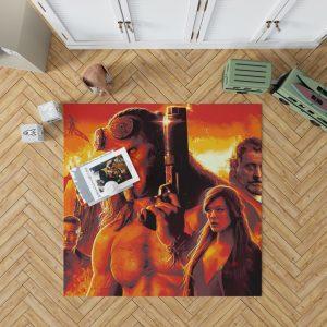 Hellboy 2019 Movie Milla Jovovich David Harbour Ian McShane Bedroom Living Room Floor Carpet Rug 1