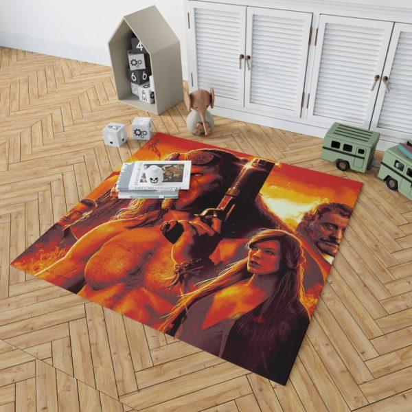Hellboy 2019 Movie Milla Jovovich David Harbour Ian McShane Bedroom Living Room Floor Carpet Rug 2