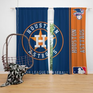 Houston Astros MLB Baseball American League Window Curtain