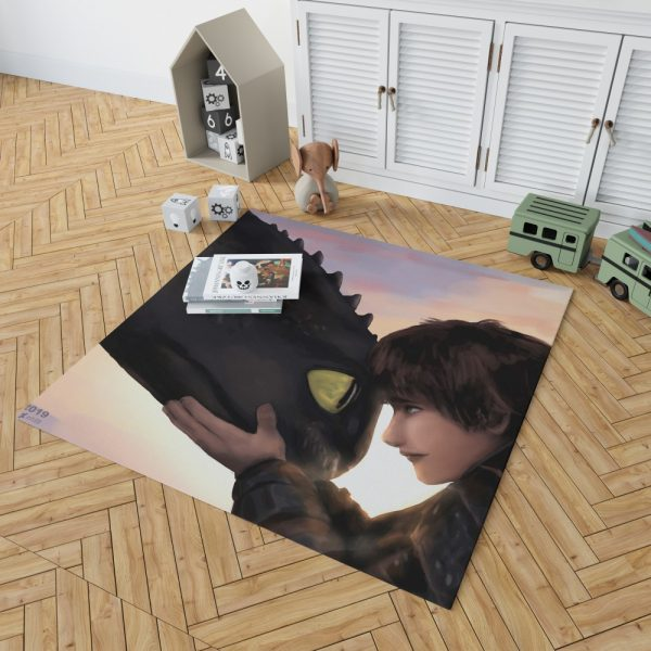 How To Train Your Dragon Movie Hiccup Toothless Bedroom Living Room Floor Carpet Rug 2