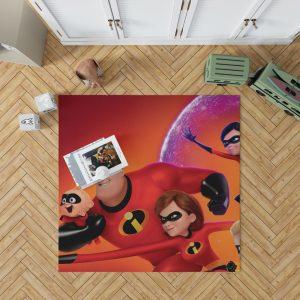 Incredibles 2 Movie Dash Parr Elastigirl Jack-Jack Parr Mr Incredible Bedroom Living Room Floor Carpet Rug 1