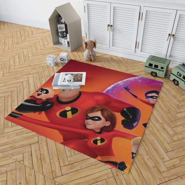 Incredibles 2 Movie Dash Parr Elastigirl Jack-Jack Parr Mr Incredible Bedroom Living Room Floor Carpet Rug 2