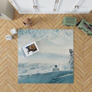 Interstellar Movie Cooper in Mann Planet Bedroom Living Room Floor Carpet Rug 1